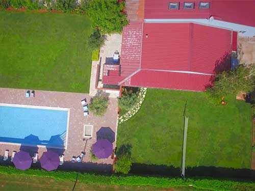 Wanderlust Istra Hostel - view from the air