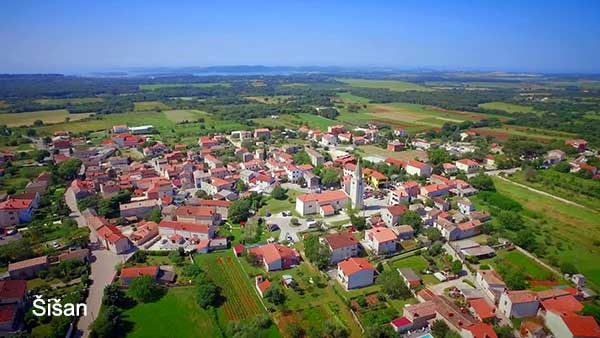 Šišan, a small picturesque village next to Pula
